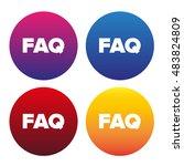 faq sign icon  vector... | Shutterstock .eps vector #483824809