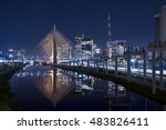 estaiada bridge sao paulo night ... | Shutterstock . vector #483826411