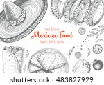 mexican food frame. mexican...   Shutterstock .eps vector #483827929