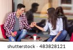 this date is going perfectly.... | Shutterstock . vector #483828121