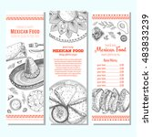 mexican food design template.... | Shutterstock .eps vector #483833239