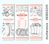mexican food design template.... | Shutterstock .eps vector #483833245