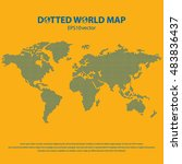 dotted world map | Shutterstock .eps vector #483836437