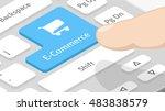 e commerce button on keyboard | Shutterstock .eps vector #483838579