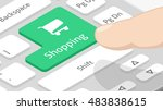 shopping button on keyboard... | Shutterstock .eps vector #483838615