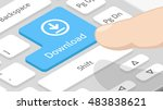 download button on keyboard | Shutterstock .eps vector #483838621
