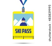 ski pass template with barcode... | Shutterstock .eps vector #483839995