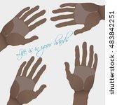 illustration with  dark skinned ... | Shutterstock .eps vector #483842251