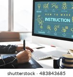 Small photo of Instruction Document Guidebook Handbook Help Concept