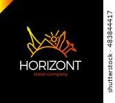 horizont line travel  journey... | Shutterstock .eps vector #483844417