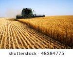 combine harvester | Shutterstock . vector #48384775