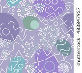 geometric vector pattern with... | Shutterstock .eps vector #483847927