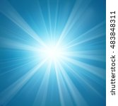 illuminated blue light... | Shutterstock .eps vector #483848311