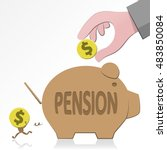 pensions and security | Shutterstock .eps vector #483850084
