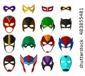 super hero masks set. vector... | Shutterstock .eps vector #483855481