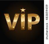 vector vip golden icons in... | Shutterstock .eps vector #483859459