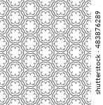 seamless geometric line pattern ...   Shutterstock .eps vector #483876289