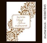 vintage delicate invitation... | Shutterstock . vector #483887845