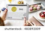 messenger chatting social... | Shutterstock . vector #483892009