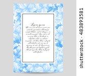 romantic invitation. wedding ... | Shutterstock . vector #483893581