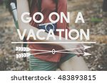 go on vacation traveling... | Shutterstock . vector #483893815