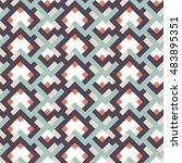 seamless pattern geometric... | Shutterstock .eps vector #483895351