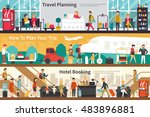 travel planning how to plan... | Shutterstock .eps vector #483896881