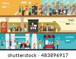 money train london flat... | Shutterstock .eps vector #483896917