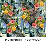 background design with flower | Shutterstock . vector #483904027