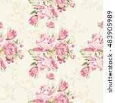 seamless floral pattern with... | Shutterstock .eps vector #483905989