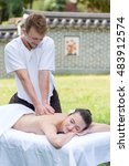 professional massage medical... | Shutterstock . vector #483912574