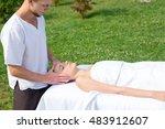 professional massage medical... | Shutterstock . vector #483912607