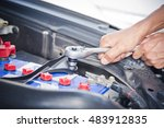 check the condition of the car... | Shutterstock . vector #483912835