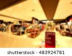 blurred of department store  | Shutterstock . vector #483924781