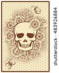 halloween poker cards with... | Shutterstock .eps vector #483926884