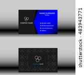business card template | Shutterstock .eps vector #483943771
