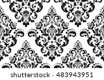 damask seamless floral pattern. ... | Shutterstock . vector #483943951