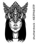 women vector design skull | Shutterstock .eps vector #483946459