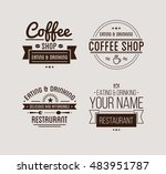 vintage logo. coffee shop... | Shutterstock .eps vector #483951787