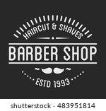 vintage barber shop logo and... | Shutterstock .eps vector #483951814