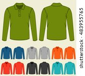 set of colored polo t shirts... | Shutterstock .eps vector #483955765