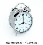 3d render of an alarm clock | Shutterstock . vector #4839580