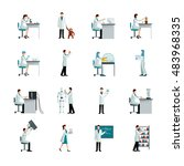 scientists decorative flat... | Shutterstock . vector #483968335