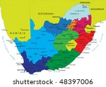 south africa political map with ... | Shutterstock .eps vector #48397006