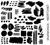 grunge hand drawn black marker... | Shutterstock .eps vector #483972487