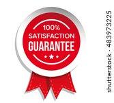 satisfaction guaranteed badge... | Shutterstock .eps vector #483973225