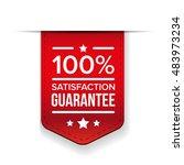 satisfaction guaranteed red... | Shutterstock .eps vector #483973234
