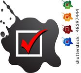 checklist web button isolated... | Shutterstock .eps vector #48397444
