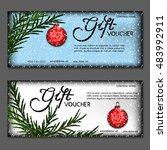 gift voucher. vector ... | Shutterstock .eps vector #483992911