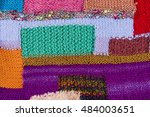 striped colorful wool texture... | Shutterstock . vector #484003651